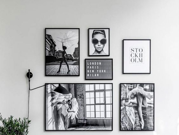 gallery wall stampe e foto